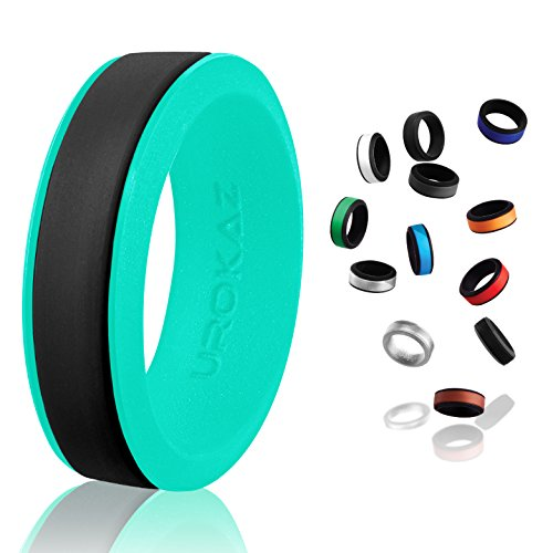 UROKAZ Rubber Wristband Silicone Wristbands Wrist Band Athletic Wedding Rings Ring Engraved for Women Diamond Set him and her Princess Cut Sets with Infinity Mens Glow in The Dark Woman not ()