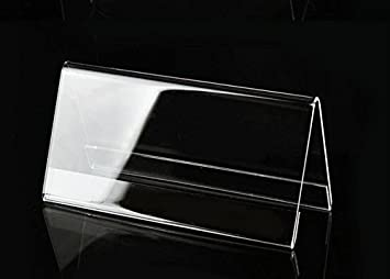 Acrylic plastic office desktop sign display holder shelf price name acrylic plastic office desktop sign display holder shelf price name business card label stand 10 reheart Images