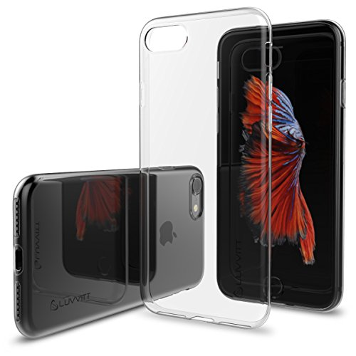 iPhone 8 Case, LUVVITT [Ultra Slim] Soft Slim Flexible TPU Back Cover Transparent Rubber Case for Apple iPhone 8 (2017) - (Soft Back Cover)