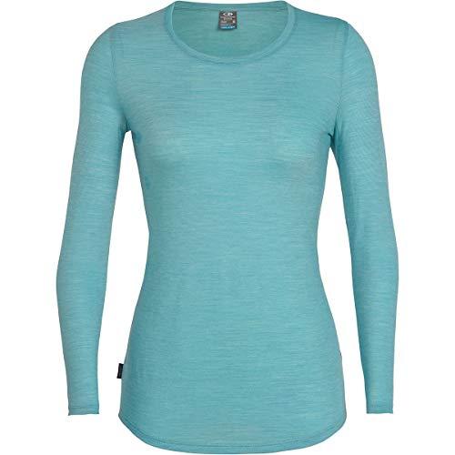 shirt Ls stripe Crewe Sphere Icebreaker Low snow Ocean Donna T xHwa5RXCq