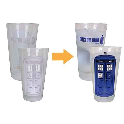 Doctor Who Color-changing 16 Oz. Glass Set of 2