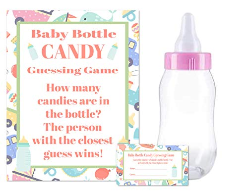 Baby Shower Candy Bar Game (Baby Shower Bottle Game Candy Guessing Game with 11