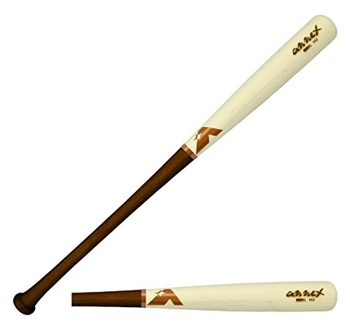 Annex Model 110 Maple Wood Baseball Bat (Walnut Handle/Natural Barrel, 34-Inch/32-Ounce) (Bat Model Professional)