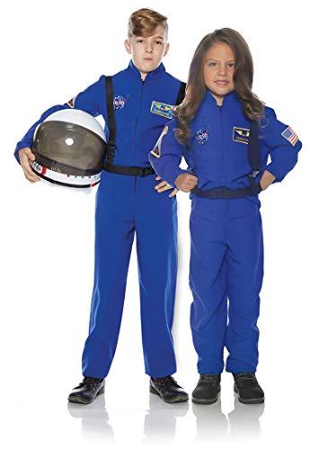 Underwraps Kid's Children's Astronaut Flight Suit Costume - Blue Childrens Costume, Blue, Medium