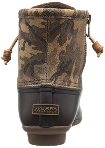 Sperry Saltwater Rope, Botas de Lluvia para Mujer Brown/Camo