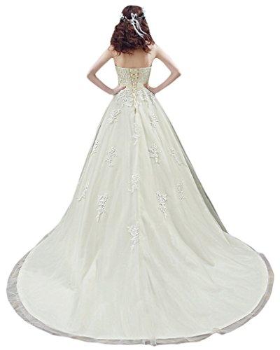 Milano Bride Exquisite Tuell Herzform Hochzeitskleieder Brautkleider Spitze  Schleife Schleppe ...