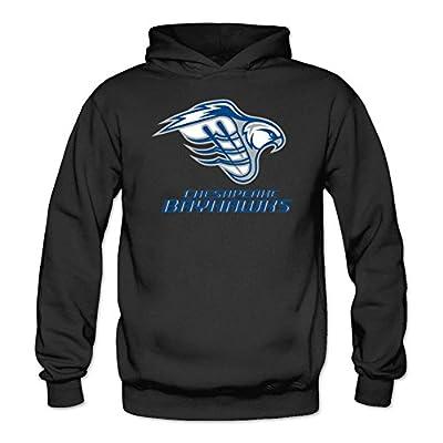 JUXING Women's Chesapeake Bayhawks MLL Logo Hoodie XXL Dark Grey