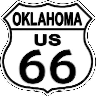 Smart Blonde Oklahoma Route 66 Highway Shield Metal Sign HS-107