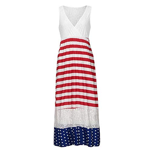 Dollie and Me Matching Outfits Mother Dress 4th of July Family Stars Striped Sundress Independence Day Clothes S -