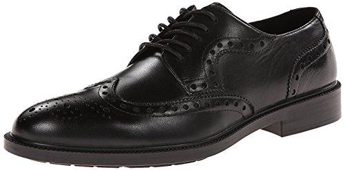 Hush Puppies Men's Issac Banker Oxford, Black Leather, 45 2E EU/10 2E UK