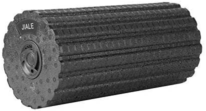 Jiale Vibrating Foam Roller 4 Speed Rechargeable Firm Foam Roller, Deep Tissue Massager for Exercise, Yoga, Trigger Point, Cycling, Running, Stretching, Muscle Therapy