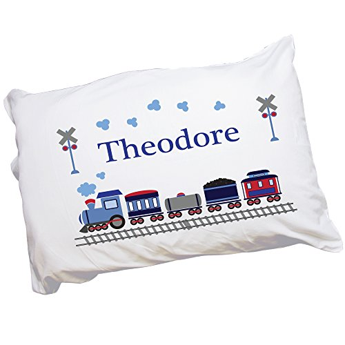 Boy's Personalized Train Pillowcase
