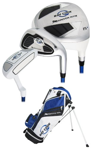 Ray Cook Golf Manta Ray Junior 5-Piece Golf Complete Set with Bag, Right Hand, Steel, Regular 08RAYMANTJRJRHJUNBL03505