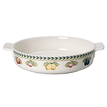 Villeroy & Boch French Garden Molde para horno, 24 cm, Porcelana Premium, Blanco