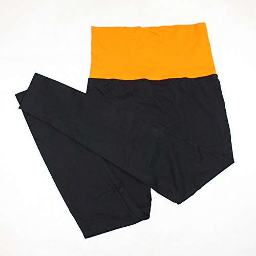 Mujeres Yoga de alta cintura Deportes Fitness Leggings Workout Pants Naranja