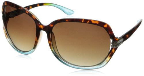Rocawear R3152 Oval Sunglasses - Tortoise Turquoise - 65 mm