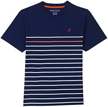 Nautica Boys' Short Sleeve Mini Stripe Crewneck Tee
