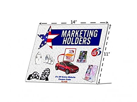 Marketing Holders Tilt Back 11w x 17h Sign Holders Premium Durable Sign Advertisement Literature Display Frame Lot of 1