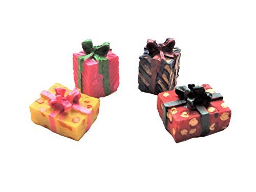 Melody Jane Dollhouse Gift Wrapped Christmas Birthday Present Boxes Miniature