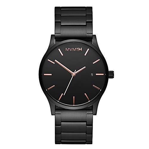 MVMT Classic Watches | 45 MM Men's Analog Minimalist Watch | Black Rose Link