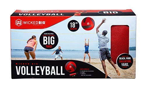 Wicked Big Sports Volleyball-Supersized Volleyball Outdoor Sport Tailgate Backyard Beach Game Fun for All