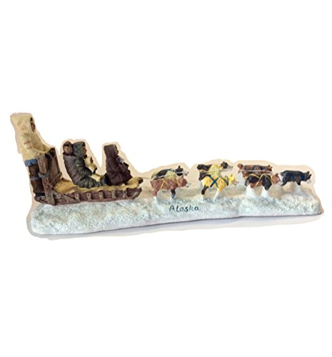 Alaska Resin Eskimo Husky Sled Dog Team 12