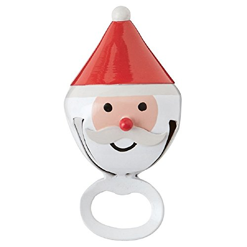 Santa Claus Jingle Bell Christmas Bottle Opener (Jingle Bell Santa Claus)