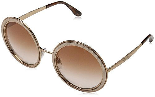 Dolce & Gabbana Women's Grosgrain Round Sunglasses, Pink Gold/Pink, One - Gabbana Pink Glasses And Dolce