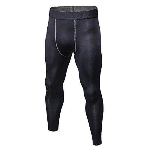 ElasticizzatacoloreNeroDimensione XxlNero Allenamento Tights Lunga Alta Abbigliamento Sportswear Manica Uomo Set Sportivo Da A rdtshQC