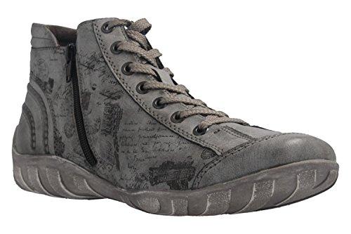 schwarz Remonte Asphalt schwarz Stivaletti asphalt Donna Grigio 45 R3452 8rO80Hxqw