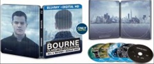 The Bourne Classified Collection Steelbook - Includes ALL 4 Movies + Bonus Disc (Blu Ray + Digital HD)