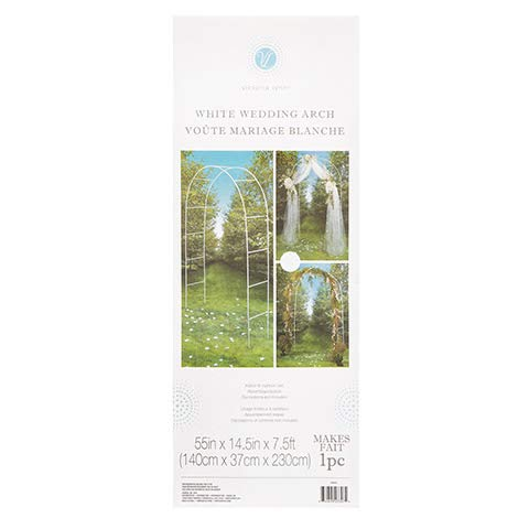 Darice 5209-05 Tubular Decorative Wedding Arch, 72-Inch, White