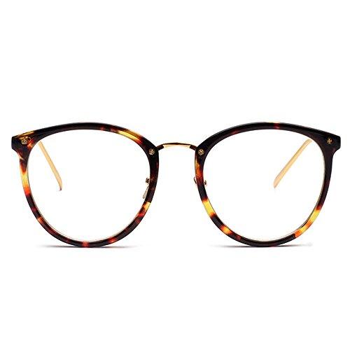 Fantia Transparent Frame Retro Optical Eyewear Fashion Eyeglasses - Glasses Tortoiseshell