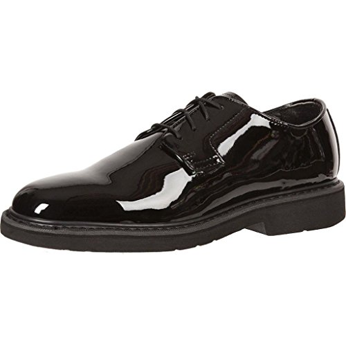 Rocky Men's High Gloss Dress Leather Oxford Shoes,Black,3 M