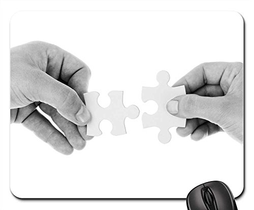 Mouse Pads - Connect Connection Cooperation Hands Holding (Puzzle Teamwork Piece)