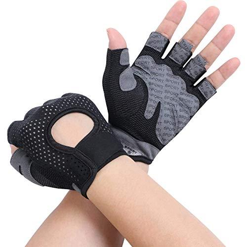 Flintronic Sporthandschoenen, ademende trainingshandschoenen met microvezelstof, fitnesshandschoenen voor heren en…