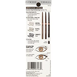 Physicians Formula Shimmer Strips Custom Eye Enhancing Eyeliner Trio, Universal Looks Collection, Nude Eyes, 0.03 oz.