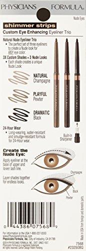 Physicians Formula Shimmer Strips Custom Eye Enhancing Eyeliner Trio Universal Looks Collection, Nude Eyes