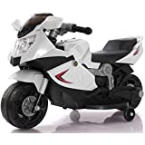 Toy House Rechargeable Battery Operated Mini Ninja Superbike Ride-on for Kids (White, 1.5-3 Years)