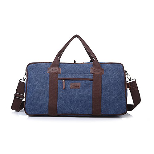 Mery Wa Men's Messenger Bag Casual Canvas Durable Shoulder Travel Bags,22.4x11.4x11.8 inches,Blue (Ck Shackle)
