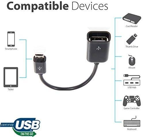 Tek Styz OTG to USB Works for LG Stylus 2 Plus with Full Speed On-The-Go Power Black