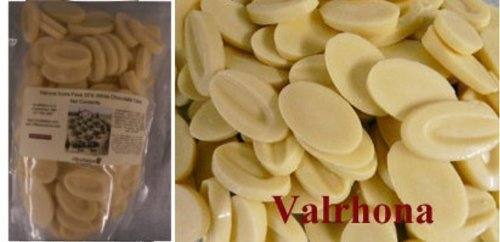 Valrhona Ivoire White Chocolate Feves (Oval Discs) - 1lb by Valrhona