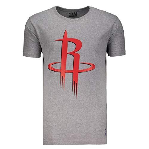 Camiseta NBA Houston Rockets Logo Cinza
