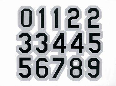 Number Stickers for Helmets (Baseball/Softball, Football, LaCrosse, Hockey, etc).