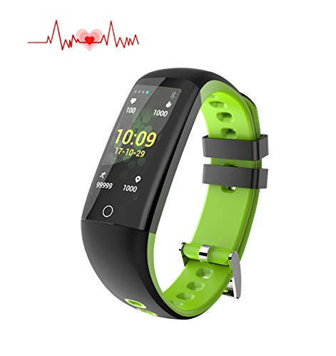 Fitness health Tracker Color Screen, smart Watch Heart Rate Monitor, Calorie/Step Counter, Blood Pressure Sleep Monitor, IP67 Waterproof Activity Tracker sport Bracelet Wristband for IOS/Android