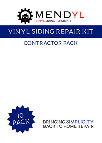 Mendyl Vinyl Siding Repair Kit, Cover Any Cracks, Holes, or Blemishes on Vinyl Siding – 10 Patches