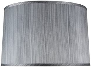 Aspen Creative Grey Black, 32253, Transitional Hardback Empire Shaped Spider Construction Lamp Shade, 18 Wide 17 x 18 x 11 1 2
