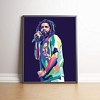 J Cole Limited Edition Poster Wall Art Wall Merchandise (Additional Sizes) (8x10)