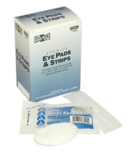 Pac-Kit by First Aid Only 7-200 Sterile Eye Pad and Strip (Box of 10) (Sterile Eye Pads)