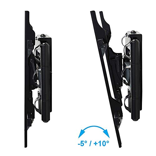 DQ Atlas Dual articulating TV Wall Mount Black - 36 inch Long Extension - Recommended TV Size: 55-90 inch - VESA 100x100.200x200.400x400.800x400 mm - Full Motion/Swivel/Turnable/Tilt